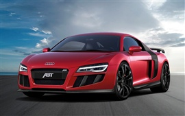 Preview wallpaper 2013 Abt Audi R8 V10 red supercar