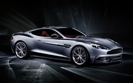 Preview wallpaper 2013 Aston Martin Vanquish silver car