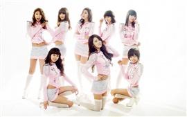 Después de clases, Corea del Sur, muchachas de la música asiática