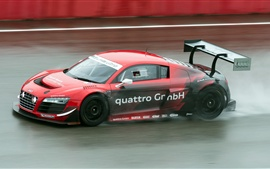 Audi R8 LMS ultra sports car in the race