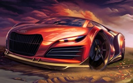 Preview wallpaper Audi creative design supercar
