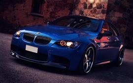 BMW M3 синий автомобиль