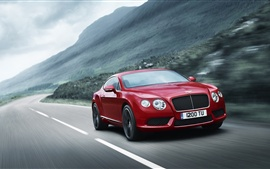 Preview wallpaper Bentley Continental GT V8 red color