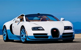 Preview wallpaper Bugatti Grand Sport vitesse white car