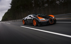 미리보기 배경 화면 부가티 Veyron의 그랜드 스포츠 비테세 로드스터