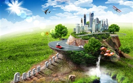 Creative design pictures, green city Wallpapers Pictures Photos Images