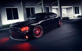 Preview wallpaper Dodge Charger SRT8 black Cool car