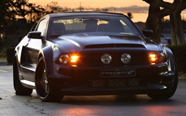 Preview wallpaper Ford Mustang GT Forgiato black