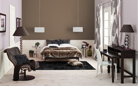 Preview wallpaper Interior design, cozy bedroom
