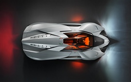 Lamborghini Egoista sport car top view