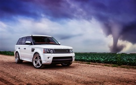 Preview wallpaper Land Rover, Range Rover, sport white SUV car