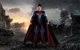 Preview wallpaper Man of Steel, the post-war ruins