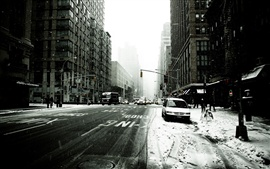 Preview wallpaper New York street in winter