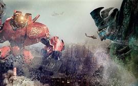 Pacific Rim, robots choque