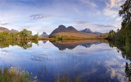 Escócia, paisagem, lago, montanhas