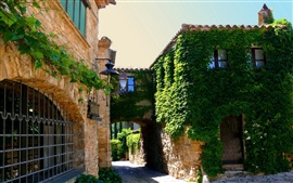 Preview wallpaper Spain, Catalonia, town greenery, road, houses, sunshine