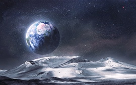 Preview wallpaper View Earth from the space planet