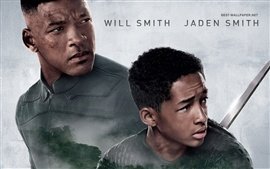 Aperçu fond d'écran Will Smith et Jaden Smith dans After Terre
