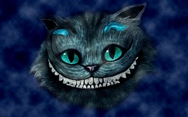Alice in Wonderland, sonriendo Cheshire Cat