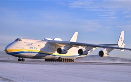 Preview wallpaper Antonov An-225 Mriya aircraft at the airport