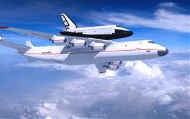 Антонов Ан-225 Мрия самолет, голубое небо