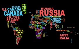 Preview wallpaper Creative pictures, World Map with text