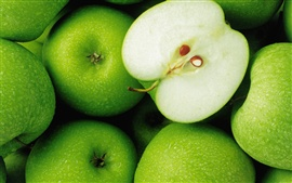 Preview wallpaper Green apple fruit close-up photography