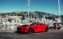 Preview wallpaper Mercedes-Benz SLS AMG Hamann, red supercar