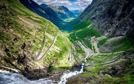 Norway, Trollstigen, winding road