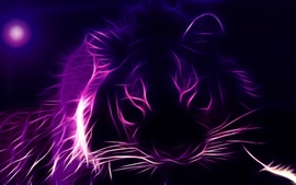 Preview wallpaper Tiger face, abstractive graphics design