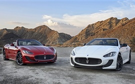 Preview wallpaper Two Maserati GranCabrio supercars