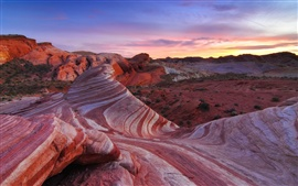 America desert landscape, rocks, sky, red color