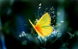 Preview wallpaper Art design yellow butterfly