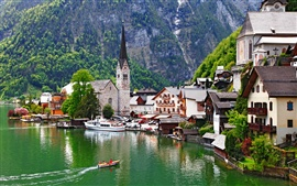 Preview wallpaper Beautiful town, Salzkammergut, Austria