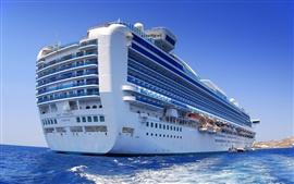 Big cruise ship in the ocean