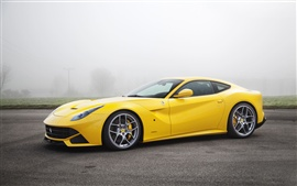 Preview wallpaper Ferrari F12 yellow supercar