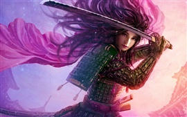 Preview wallpaper Legend of the Five Rings, purple warrior girl