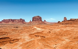 Preview wallpaper Monument Valley, desert, rocks, Utah, Arizona, USA