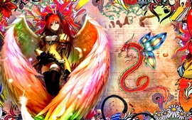 Preview wallpaper Shakugan no Shana, anime angel girl