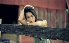 Preview wallpaper Asian girl thinking