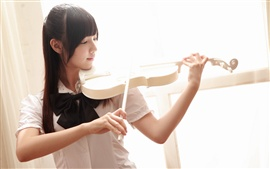 Preview wallpaper Asian violin music girl