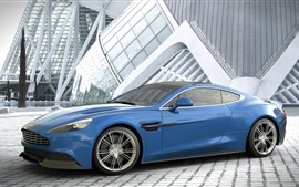 Preview wallpaper Aston Martin Vanquish blue car