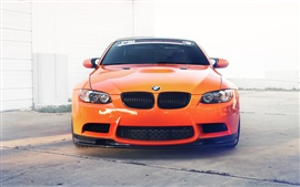 Preview wallpaper BMW M3 E92 orange car front view