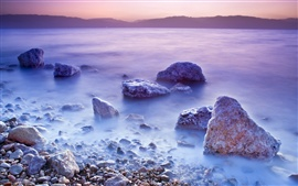 Preview wallpaper Dead Sea sunset scenery