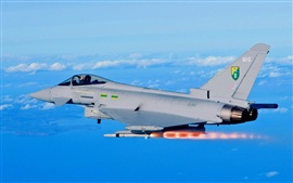 Preview wallpaper Eurofighter Typhoon EF2000 fighter, missile launch