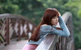 Preview wallpaper Lonely asian girl