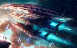 Preview wallpaper Mass Effect, Normandy SR2 Spaceship