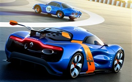 Preview wallpaper Renault Alpine A110-50 Concept supercar in track