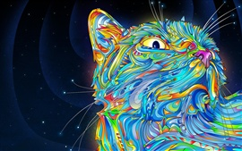 Preview wallpaper Vector abstract Colorful cat