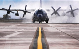 Preview wallpaper AC-130W Stinger II aircraft take-off